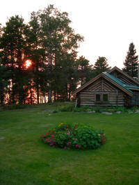 Cochenour Cabin at sunset